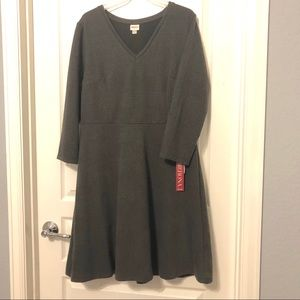 Women's gray long sleeved dress